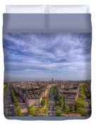 Skyline Of Paris Duvet Cover