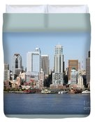Skyline Of Seattle Duvet Cover