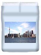Skyline Of Toronto Ontario Duvet Cover