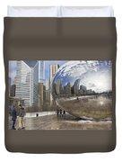 Skyline Reflected Duvet Cover