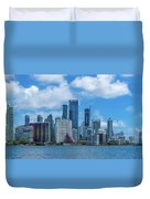 Skylines At The Waterfront, Miami Duvet Cover