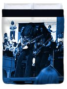 Skynyrd #5 Crop 1 In Blue Duvet Cover