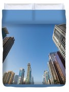 Skyscrapers Along Sheikh Zayed Road Duvet Cover