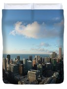 Skyscrapers In A City, Chicago, Cook Duvet Cover