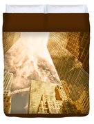 Skyscrapers Reflection  Duvet Cover