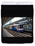 Skytrain Carriage Metro Railway At Nana Station Bangkok Thailand Duvet Cover