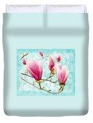 Skyward Magnolia Painterly 4 Duvet Cover