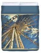 Skywheel At Niagara View Duvet Cover