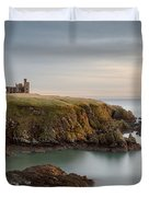 Slains Castle Sunrise Duvet Cover