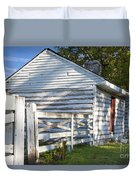 Slave Huts On Southern Farm Duvet Cover