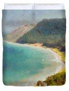 Sleeping Bear Dunes Lakeshore View Duvet Cover