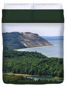 Sleeping Bear Dunes Overlook Duvet Cover