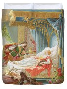 Sleeping Beauty And Prince Charming Duvet Cover