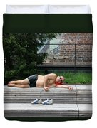 Sleeping Beauty On The High Line Duvet Cover