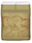 Sleeping Figure Duvet Cover