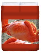 Sleeping Flamingo Duvet Cover