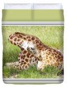 Sleeping Giraffe Duvet Cover