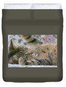 Sleeping Kitty Duvet Cover