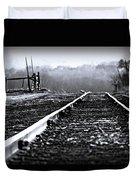 Sleeping On The Tracks Duvet Cover