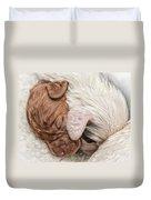 Sleeping Puppies Duvet Cover