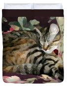 Sleeping Tabby Duvet Cover