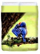 Sleepy Bluebird Duvet Cover