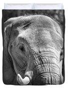 Sleepy Elephant Lady Black And White Duvet Cover
