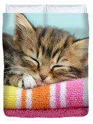 Sleepy Kitten Duvet Cover