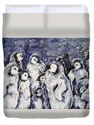 Sleepy Penguins Duvet Cover