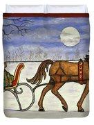 Sleigh Ride With Grandpa Duvet Cover