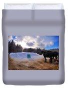 Sleigh Rides Duvet Cover