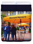 Slice Of Life Nyc-herald Square Duvet Cover