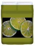 Sliced Limes Duvet Cover