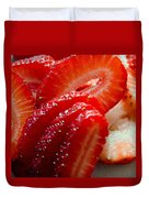 Sliced Strawberries Duvet Cover
