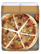 Sliced Tortilla Pizza Duvet Cover