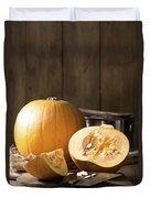 Slicing Pumpkins Duvet Cover