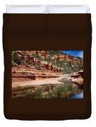 Slide Rock State Park Duvet Cover