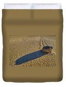 Sliding Rock Of Racetrack Playa Duvet Cover