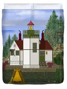 Slip Point Lighthouse Vintage Duvet Cover