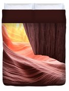 Slot Canyon Sun Duvet Cover