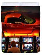 Slots Players In Vegas Duvet Cover