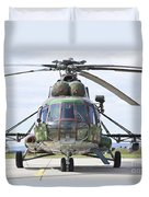 Slovakian Mi-17 With Digital Camouflage Duvet Cover