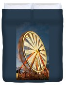 Slow Down The Ferris Wheel Duvet Cover