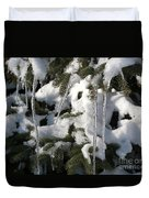 Slow Snow Melt Duvet Cover