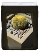 Small Barrel Cactus In Planter Duvet Cover