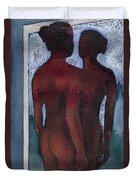 Small Blue Mirror Duvet Cover by Graham Dean
