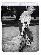 Small Boy Totes Heavy Golf Bag Duvet Cover