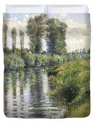 Small Branch Of The Seine At Argenteuil Duvet Cover