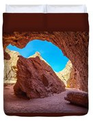 Small Canyon In Chile Duvet Cover