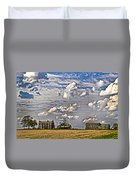 Small Farms Fading Fast Duvet Cover
